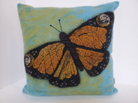 Kathy M Forzley - Monarch Butterfly Pillow