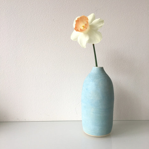 Lynne Tan Blue Ceramic Bud Vase