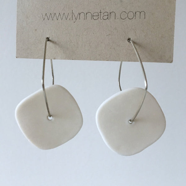 Lynne Tan - Porcelain Earrings - Square in Ivory