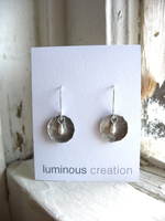 Jaclyn Dreyer - Hammered Silver Disc with Freshwater Pearl Earring