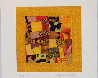 Quilt - Goldenrod Hanging Quilt  by Carolyn Beard Whitlow