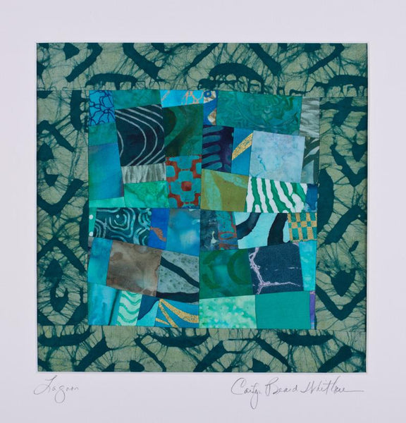 Quilt - Lagoon Hanging Quilt by Carolyn Beard Whitlow