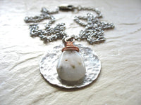 Jaclyn Dreyer - Solar Quartz & Hammered Silver with Copper Necklace