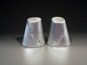 Pewter Zig Zag Salt and Pepper Shakers