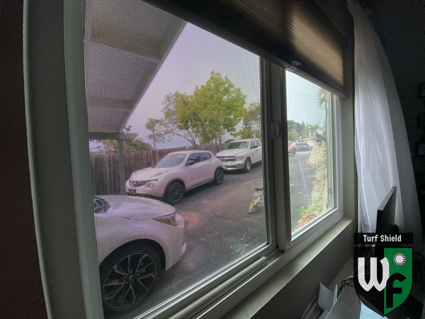 Black Turf Shield Window Film From the inside view
