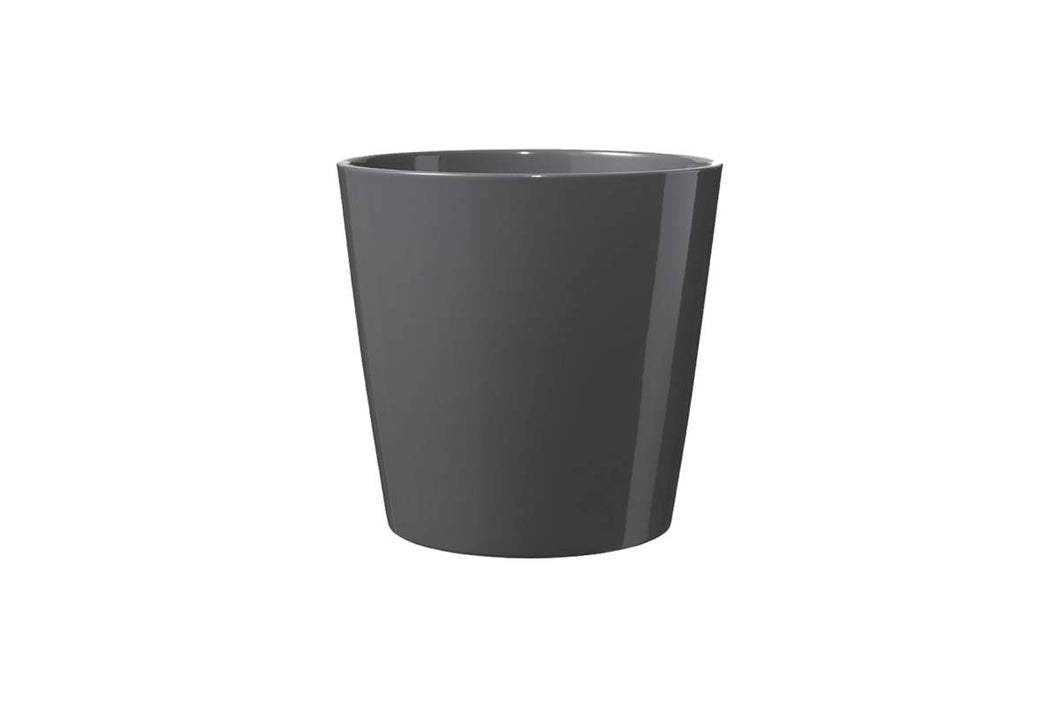Cache-pot Dallas style anthracite lustré 19cm