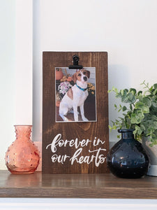 Wood sign | Pet memorial, picture frame