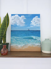 Load image into Gallery viewer, Sailboat by the beach | 16X20