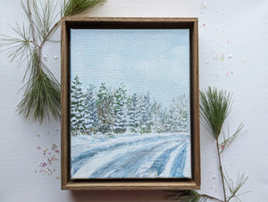 Winter landscape framed painting | 4