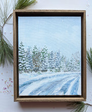 Load image into Gallery viewer, Winter landscape framed painting | 4