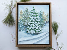 Load image into Gallery viewer, Winter landscape framed painting | 1
