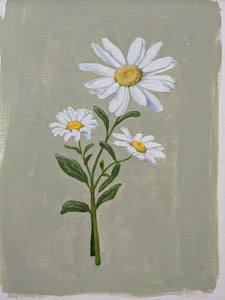 Day 2 Daisy | 9X12 inch original painting