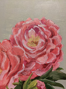 Day 4 Peony | 9X12 inch original painting