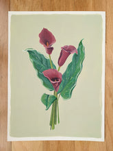 Load image into Gallery viewer, Day 14 Calla lily | 9X12 inch original painting