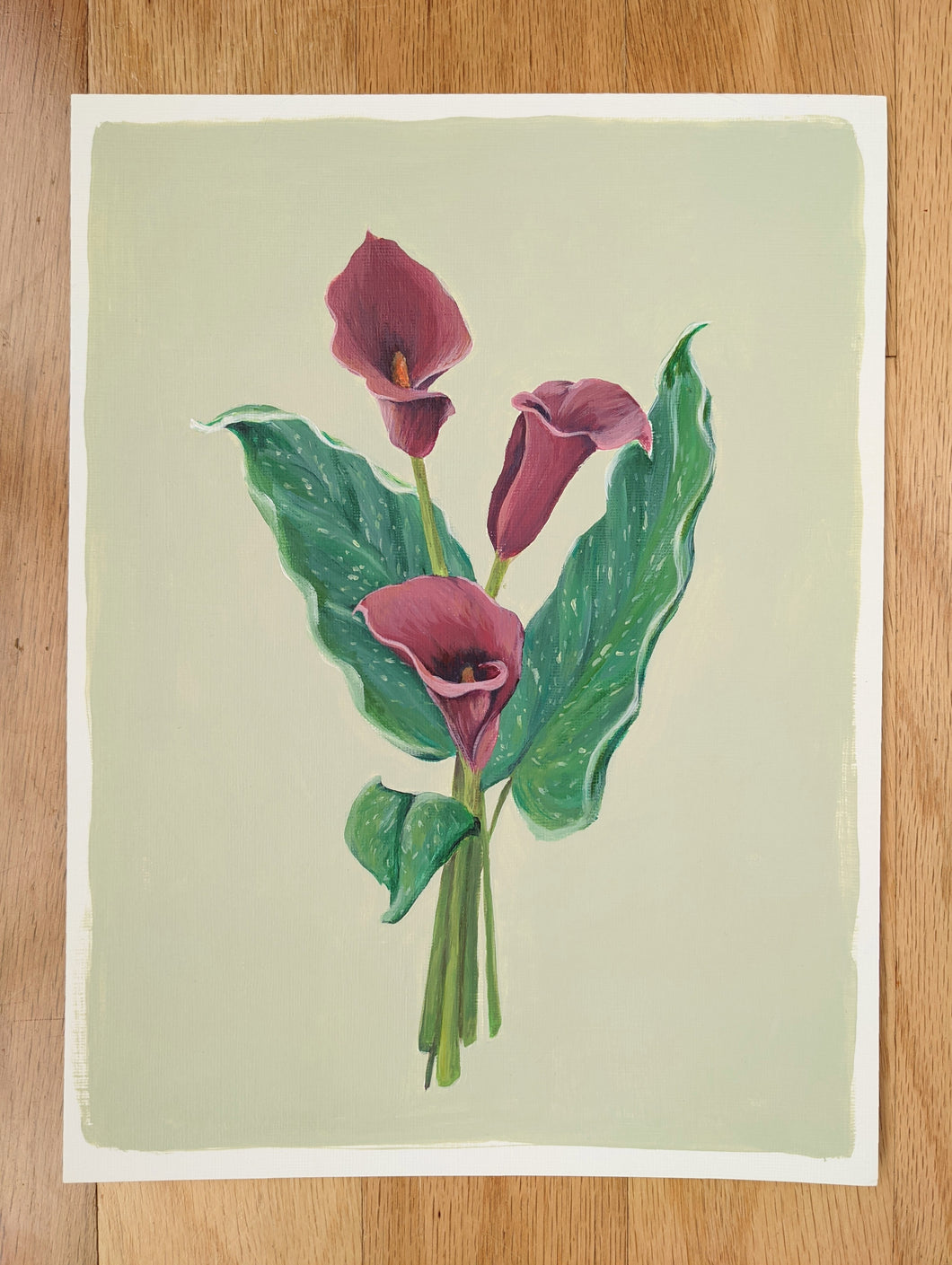 Day 14 Calla lily | 9X12 inch original painting