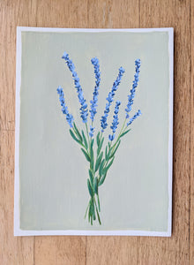 Day 21 Lavender| 9X12 inch original painting