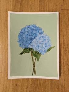 Day 28 Hydrangea | 9X12 inch original painting