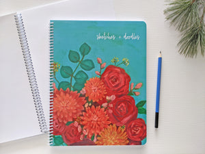 Art sketchbook, sketches & doodles sketchbook