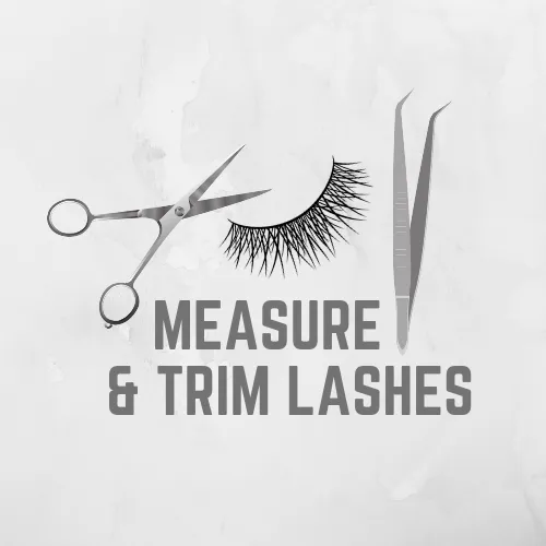 measure and trim mink lashes