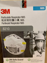 Load image into Gallery viewer, 3M Particulate Respirator 8210, N95 20/Box