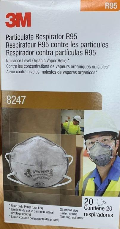 3M Particulate Respirator 8247/8246 R95 Masks 20/Box
