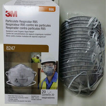 Load image into Gallery viewer, 3M Particulate Respirator 8247/8246 R95 Masks 20/Box