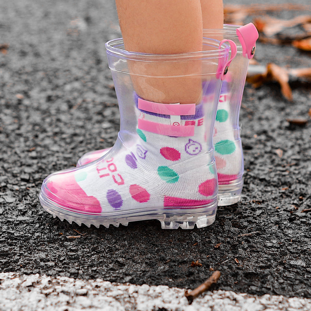 Posisocks girl in gumboots