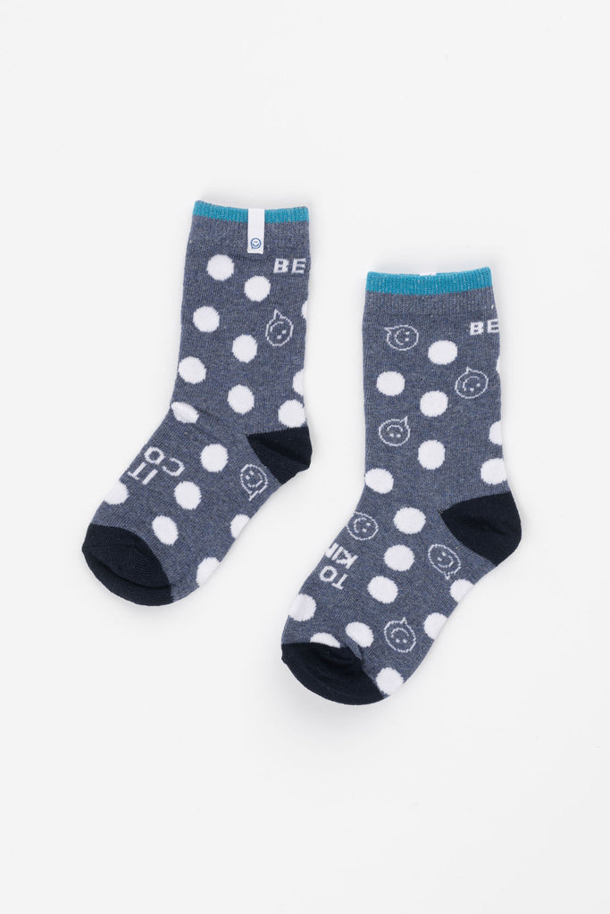 Posisocks boy's blue spot sock