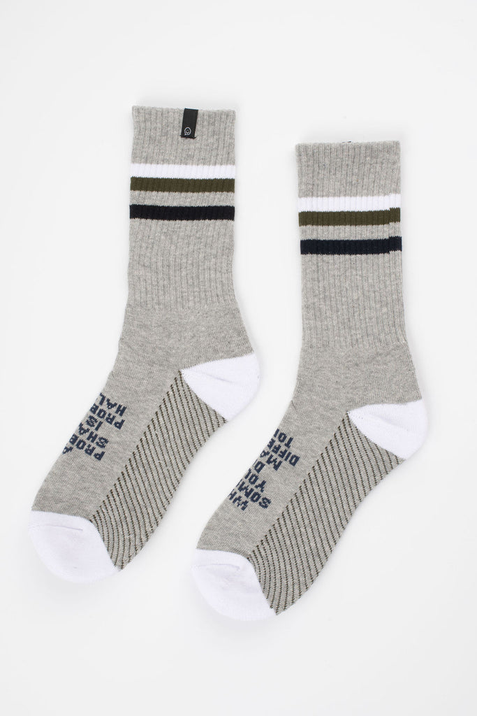 Posisocks men's grey sock