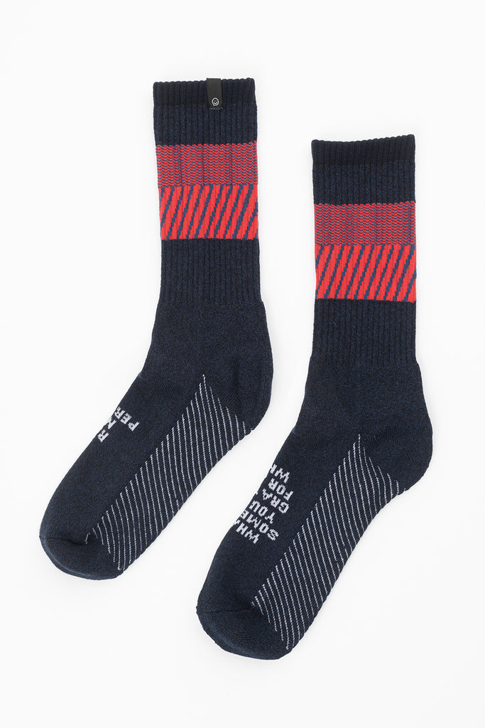 Posisocks men's real and raw crew