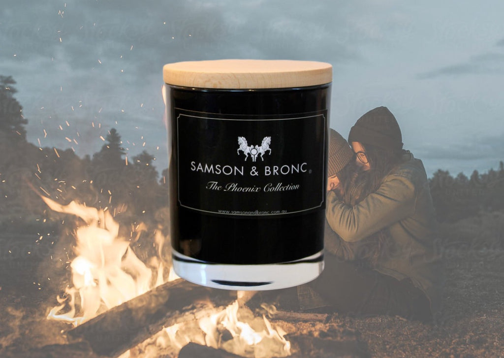 Campfire Scented Soy Wax Candle - www.samsonadnbronc.com.au