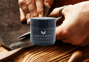 Vintage leather & Sandalwood - Travel Candle