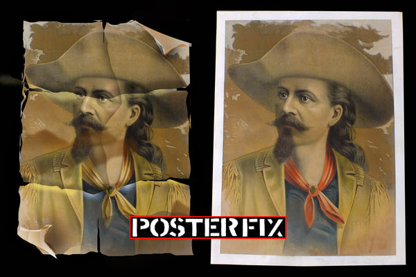 Poster Restoration & Linen Backing - for 1-sheet Poster $175