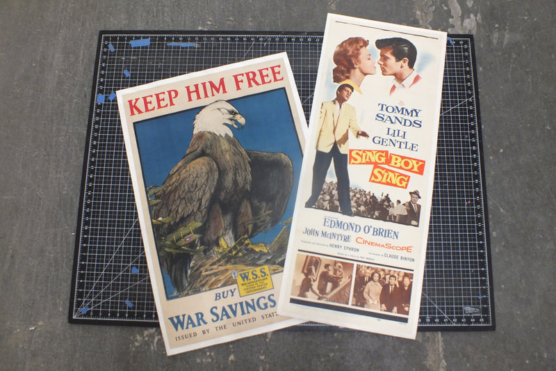 Poster Restoration & Linen Backing - Half sheet/ Insert Poster $155