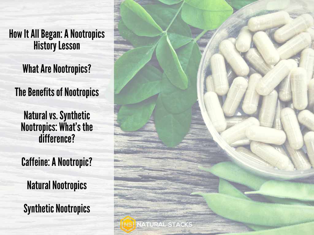 Nootropics table of contents