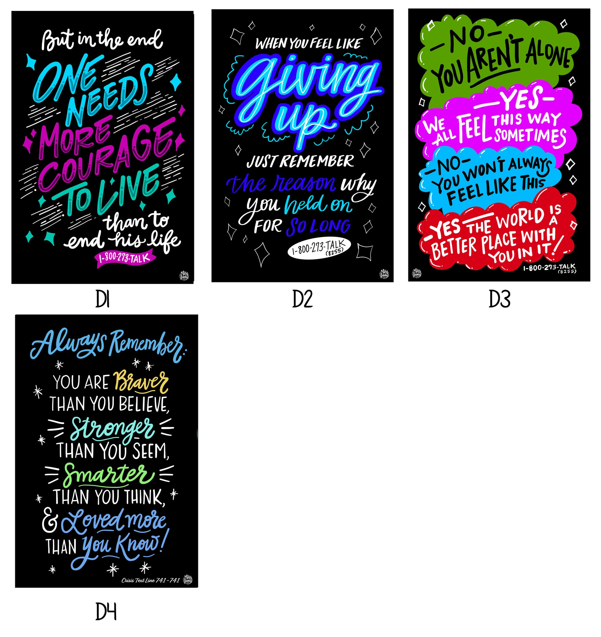 Suicide Prevention - Single Decals | Build Your Own Collection D