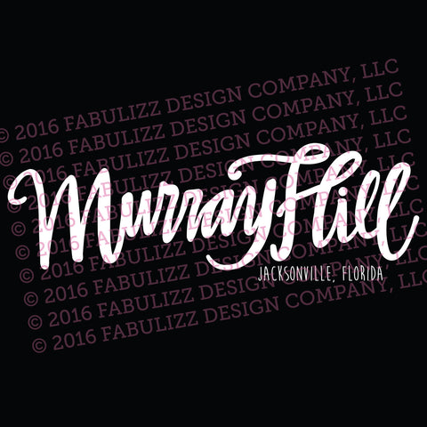 "White Vinyl Decal  - ""Murray Hill"" Jacksonville, Florida"
