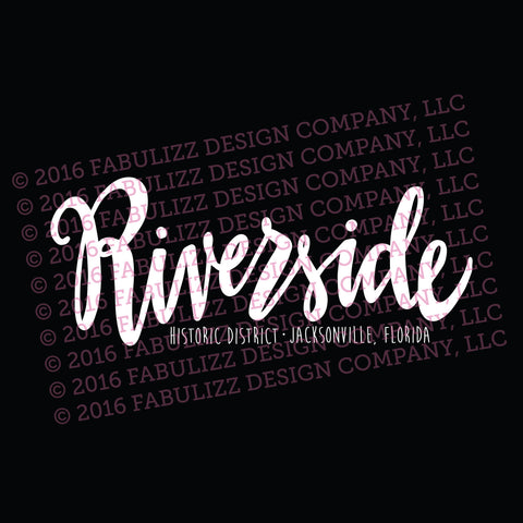 "White Vinyl Decal  - ""Riverside Historic District"" Jacksonville, Florida"