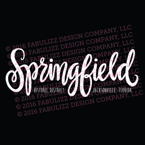 "White Vinyl Decal  - ""Springfield Historic District"" Jacksonville, Florida"