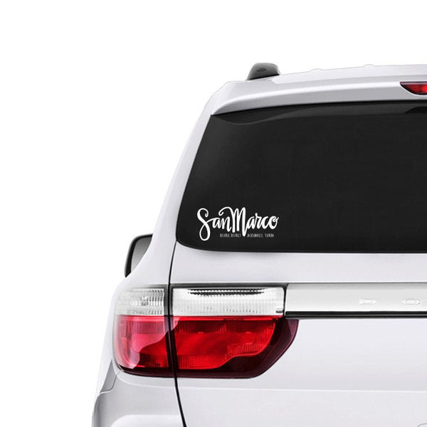 "White Vinyl Decal  - ""San Marco Historic District"" Jacksonville, Florida"
