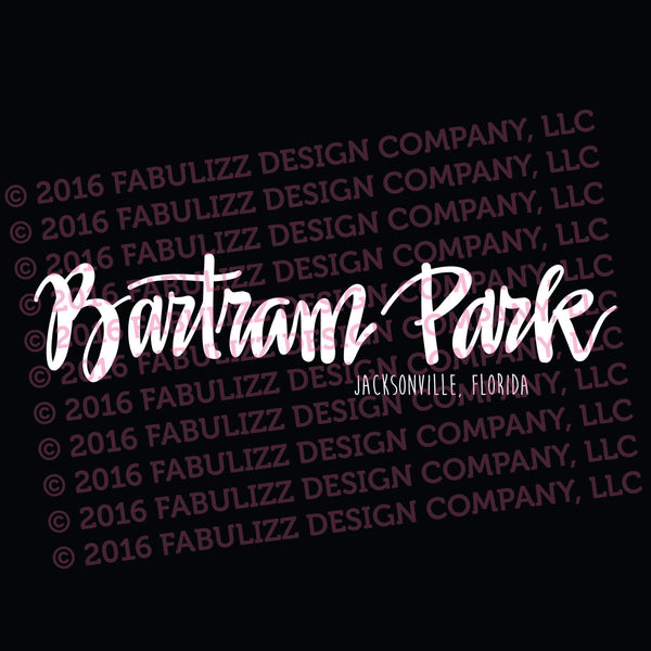 "White Vinyl Decal  - ""Bartram Park"" Jacksonville, Florida"