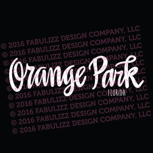"White Vinyl Decal  - ""Orange Park"" Florida"