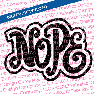 "Nope- Typographic Illustration - 8"" x 8"" -  SVG File for CRICUT"