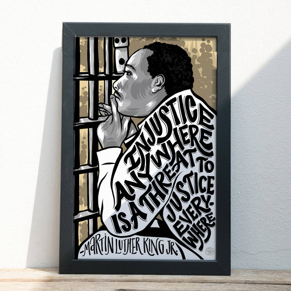 "Martin Luther King, Jr. Injustice - Illustration - Digital Art - 11"" x 17"""