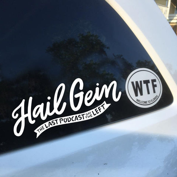 Last Podcast on the Left - White Vinyl Decal