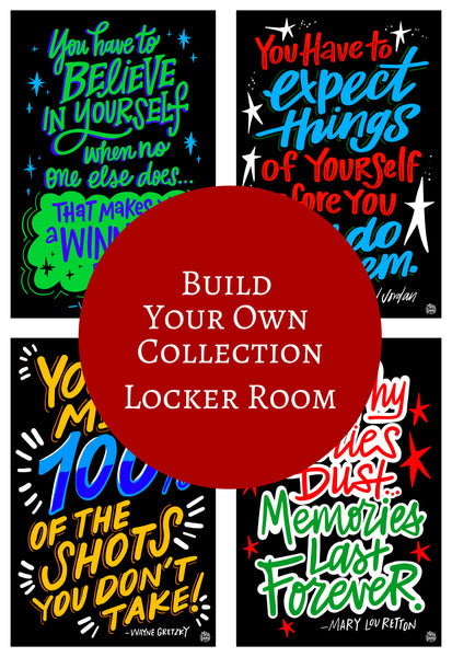 Locker Room | Athlete Quotes - Single Decals | Build Your Own Collection E