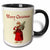 3dRose Merry Christmas Vintage Santa Claus Carrying a Small Christmas Tree, Two Tone Black Mug, 11oz