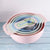 10 Pcs Mixing Bowl Set Rainbow Salad Bowl Plastic Kitchenware Measuring Spoon Measuring Bowl Flour Sieve Sifter Baking Tool Set