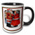 3dRose Mr and Mrs Claus- mr and mrs claus, christmas gifts, christmas, christmas cards, holiday cards - Two Tone Black Mug, 11-ounce