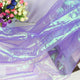 150cm*100cm designer Fluorescent Fabrics Colorful Shiny Gauze Fabric Stage Wedding Decor Voile Transparent Holographic Fabric